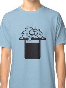 Zauberer sir gentlemen herr zylinder hut haarig monster wuschelig verrückt lustig comic cartoon zottelig crazy cool gesicht  Classic T-Shirt
