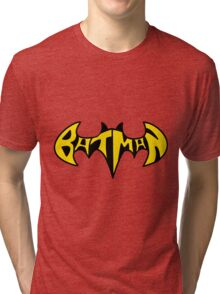 Batman Text  Tri-blend T-Shirt
