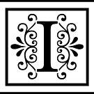 Letter I Monogram by imaginarystory