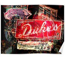 Duke's Retro Rest Poster
