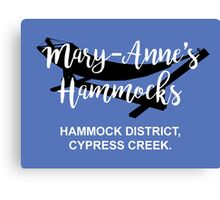 Mary-Anne's Hammocks – Cypress Creek, The Simpsons Canvas Print