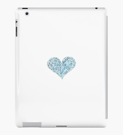 """Doctor Who - """"Doctor"""" Collage in Blue iPad Case/Skin"""