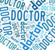 "Doctor Who - ""Doctor"" Collage in Blue Sticker"