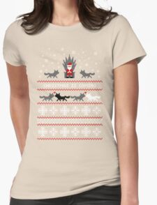 Christmas Is Coming Santa Edition  Womens Fitted T-Shirt