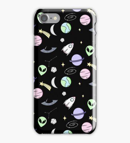 Space Aesthetic (Black) iPhone Case/Skin