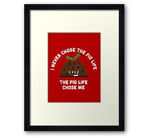 Christmas Character Building - Fig life Framed Print