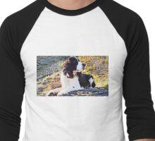 """""""Springer Spaniel Pup"""" photograph Men's Baseball ¾ T-Shirt"""