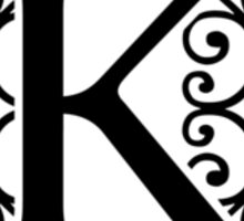 Letter K Monogram Sticker