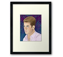 Jim Wearing a Gift From Spock Framed Print