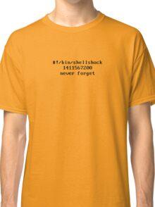 Shellshock Security Bug Tribute Classic T-Shirt