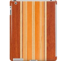 Nalu Lua Faux Hawaiian Koa Wood Surfboard - Amber iPad Case/Skin
