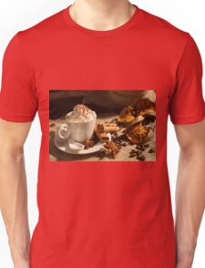 Close-up of coffee with whipped cream and cocoa powder Unisex T-Shirt