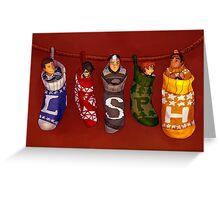 Voltron Christmas Stocking Greeting Card