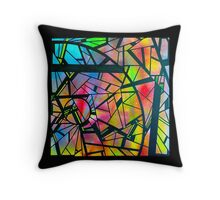 color abstraction two Throw Pillow