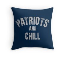 Patriots and Chill Throw Pillow