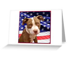 American pitbull Terrier puppy Greeting Card