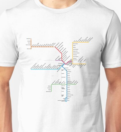 Los Angeles Metro Rail Map Unisex T-Shirt