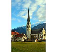 Church in Untermieming, Tirol, Austria Photographic Print
