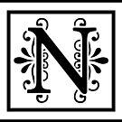 Letter N Monogram by imaginarystory