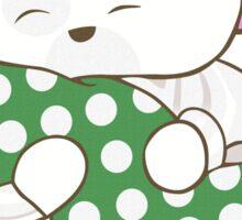 White Teddy Bear Sticker
