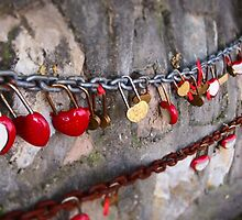 Love locks on the Great Wall of China by candysfamily