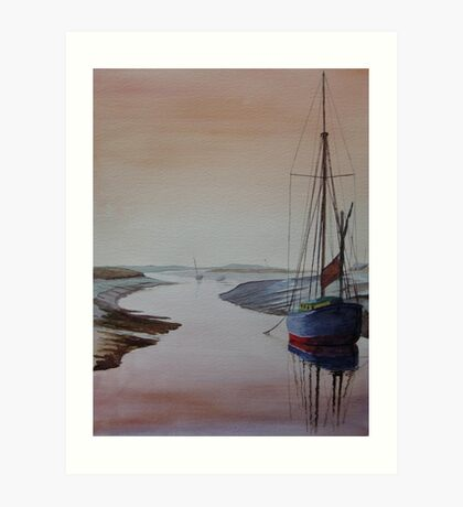 Resting Place - Blakeney, Norfolk Art Print
