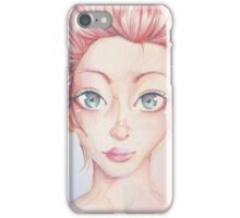 Rosy and Red Portrait iPhone Case/Skin