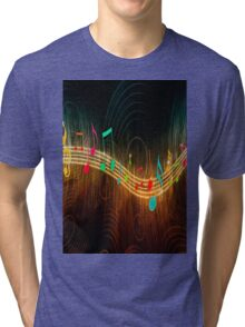 design art cartoon naruto music 7 Tri-blend T-Shirt