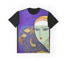 "Art Deco Design by Erte ""Goldfish Gazing"" Graphic T-Shirt"