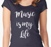 Music is my life | Quote Women's Fitted Scoop T-Shirt