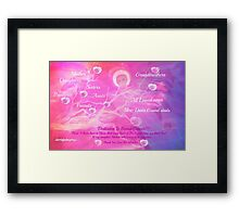 Angel For Breast Cancer- dedicated to Breast Cancer Month Framed Print