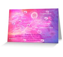 Angel For Breast Cancer- dedicated to Breast Cancer Month Greeting Card