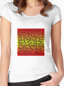 Jaguar Gradient - Red | Lime Yellow | Black Women's Fitted Scoop T-Shirt
