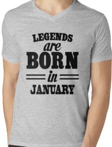 Legends are born in Juanary Mens V-Neck T-Shirt