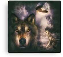Night Wolves 2 Canvas Print