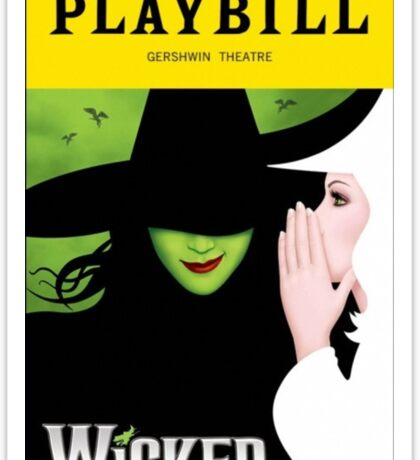 Wicked Playbill Sticker