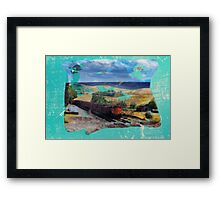 Country rails Framed Print