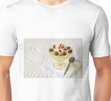 Dessert with berries and cream Unisex T-Shirt