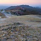 A cold morning at British Camp, Malvern Hills, England by Cliff Williams