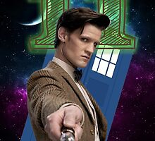 11th Doctor Greeting Card by thescudders