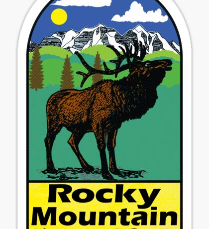 ROCKY MOUNTAIN NATIONAL PARK COLORADO ELK HIKING CLIMBING CAMPING 2 Sticker