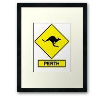 Perth, Western Australia - Kangaroos Gone Wild Framed Print