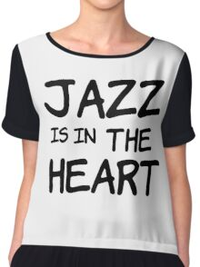 cool jazz is in the heart music t shirts Chiffon Top