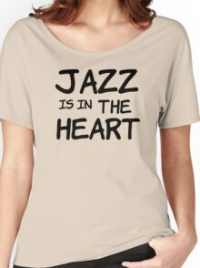 cool jazz is in the heart music t shirts Women's Relaxed Fit T-Shirt