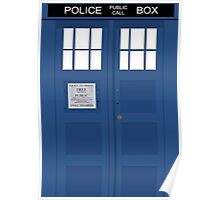 Tardis Greeting Card Poster