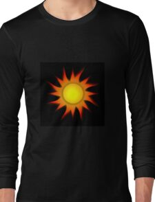 Sun Gradient - Yellow | Red | Black Long Sleeve T-Shirt