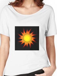 Sun Gradient - Yellow | Red | Black Women's Relaxed Fit T-Shirt