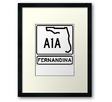 A1A - Fernandina Beach, Florida Framed Print