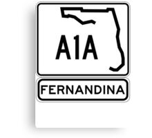 A1A - Fernandina Beach, Florida Canvas Print
