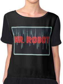 Mr. Robot Glowing Neon Chiffon Top